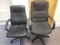 6 Black Office Swivel Chairs
