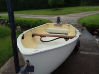 Classic Dinghy on combination trailers, optional 3.5hp engine