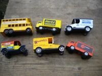 6 SMALL ADVERTISEING VANS AND BUSES