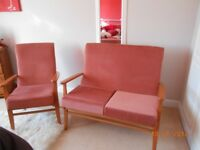2 seater settee & chair