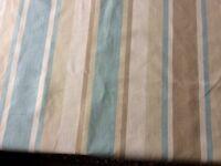 Laura Ashley Fabric: Awning Stripe: Pistachio/Duck Egg