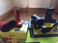 Joules boys wellie boots