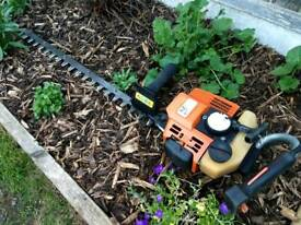 Stihl HS 85 petrol hedge trimmer.