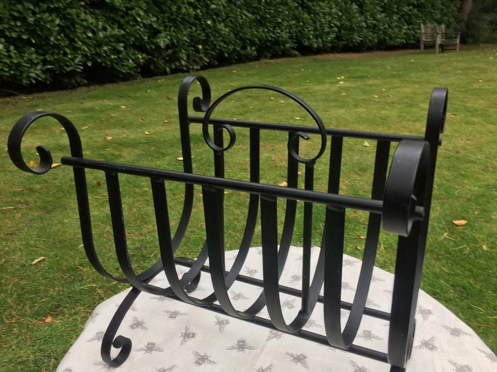 Wrought iron magazine / log / fireplace rack