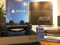 PlayStation 4 500gb black +5 games