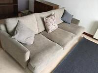 FREE 4 piece oatmeal fabric sofa suite