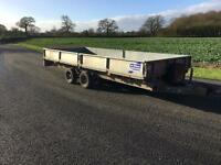 IFOR WILLIAMS TRAILER 2010 DROPSIDE WITH 8 FOOT RAMPS