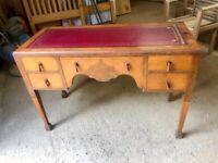 Lovely antique walnut writing desk