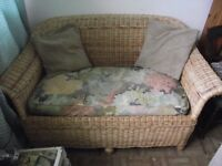 2 Seater Sofa Wicker/Rattan/Conservatory Sofa