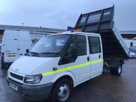 TRANSIT TIPPER LWB BRAND NEW PRO BUILT TIPPER BODY COSTING A SMALL FORTUNE ! SUPERB DRIVE NO VAT !