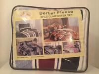Brand new Berber fleece comforter/blanket