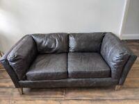 Tetbury Black Leather Sofa - Free