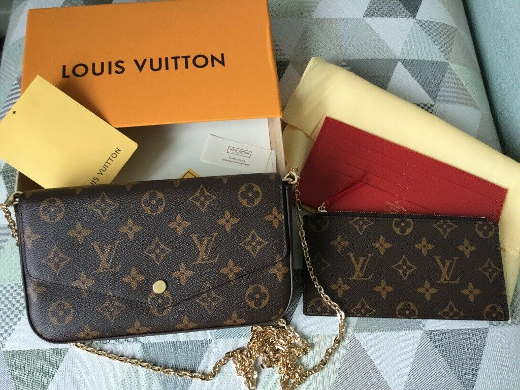 Louis Vuitton Pochette Felicie handbag cross body bag clutch a Valentines  gift New d2913a99de2
