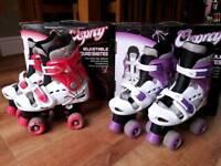 Osprey adjustable quad roller skates kids size 13-3