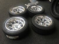 brand new 7x13 Superlight Deep Dish Alloy Wheel Package with yokohama tyres great kit car project