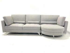 BRAND NEW-Reversible Cloth Sectional couch $999.97 Grey, Tan / Taupe,  Dark Grey in Stock at dex10