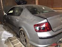 Peugeot 407 silver breaking for spares