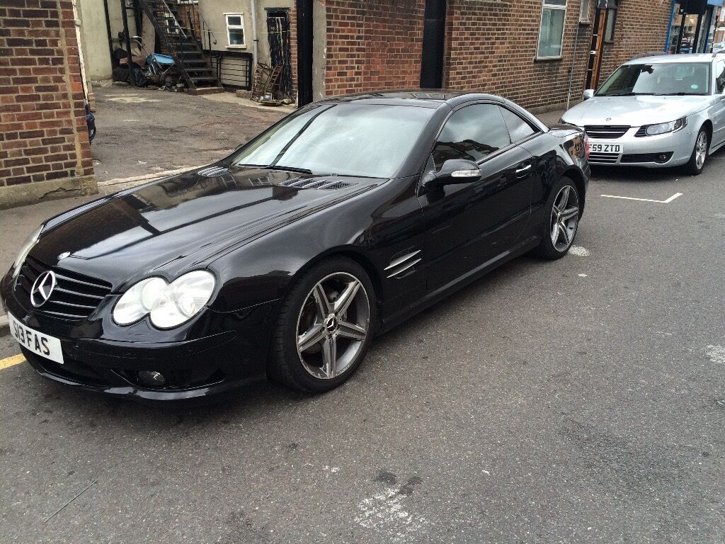 Mercedes sl 350 r230 black full amg kit with amg alloys for Mercedes benz amg kit