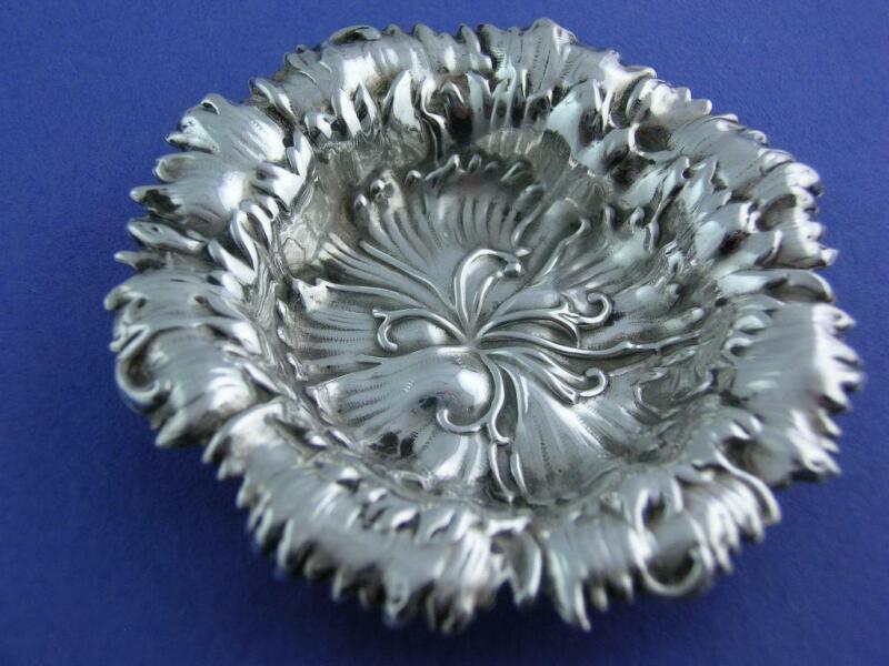 Sterling GORHAM Nut Dish ART NOUVEAU Floral HIBISCUS no.868