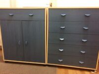 Bedroom cupboard and chest of drawers £20