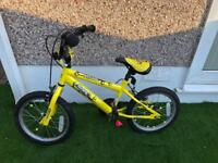 "Boys 16"" Sonic Yellow bike - good condition"