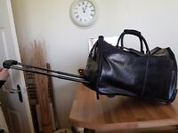 Black leather Holdall/Travel Carrier