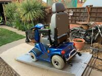 Medium Blue Mobility Scooter Fully Functioning With Brand New Batteries Only £450