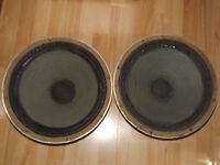 "2 x Marshall 15"" Vintage 50W 8 Ohm Chassis Guitar / Organ / Bass Speakers - Fully Working"
