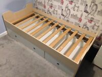 Childs Single Bed and 4 Drawer Unit