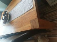 Solid wood dining table and 4x chairs