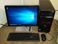 HP mt3550 PC. Core i3-3rd gen. 4gb ram. 500gb hdd. 19inch hp monitor