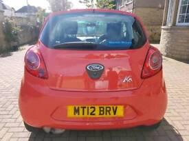 2012 Ford KA 3 door 1.2 studio. cheap to insure tax & run. lpw mileage