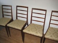 Dining table, four chairs and sideboard
