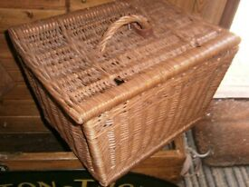 Old wicker basket hamper