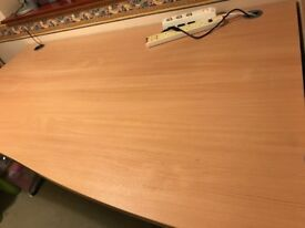 Office desk left hand 160 cm width 80-100 cm depth.