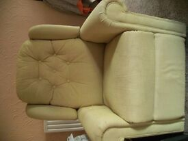 HSL recliner chair, sage green, excellent condition