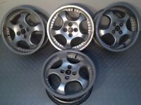 "RONDELL R.O.D 17"" 4x114.3 8J deep dish alloy wheels, original, not azev, speedline, aez tm"