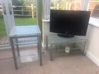 Glass TV stand and unit