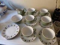 mixed lot cups, saucers side plates sugar milk jug some Ridgeway