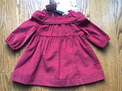 NWT Burberry baby dress peony rose color courdory size 12 months retail $185