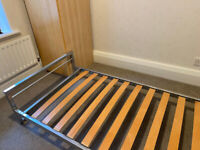 Single JAY-BE metal bed frame and mattress