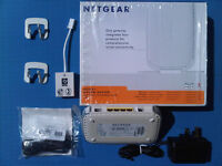 NETGEAR MODEM ROUTER ADSL2+, 4 Port Switch + Double Firewall, Ultra-Fast LAN Ports FREE UK DELIVERY