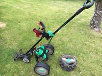 POWERD GOLF TROLLEY. Hill Billy compact plus.