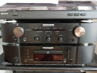 HIGH QUALITY MARANTZ AMP AND CD PLAYER - SONY TURNTABLE - WHARFEDALE SPEAKERS - EXCELLENT CONDITION