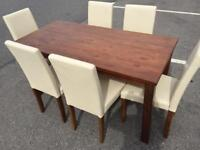 BRAND NEW TABLE WITH 6 CHAIRS