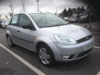 55 FORD FIESTA 1.25 ZETEC CLIMATE 5 DR SILVER DRIVES AND LOOKS GREAT