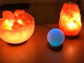 Himalayan Natural salt lamps