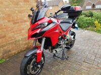 2015 Ducati Multistrada 1200s Touring DVT + Top Box + 6 months warranty