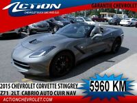 2015 CHEVROLET CORVETTE STINGRAY CONVERTIBLE Z51 2LT CUIR NAV AU