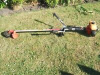Grass Strimmer / brush cutter, heavy duty, 2 stroke petrol engine.